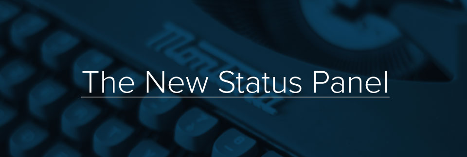 The New Status Panel