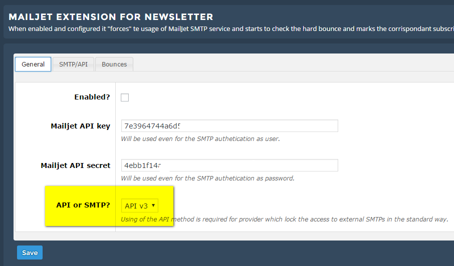 MailJet Extension - The Newsletter Plugin