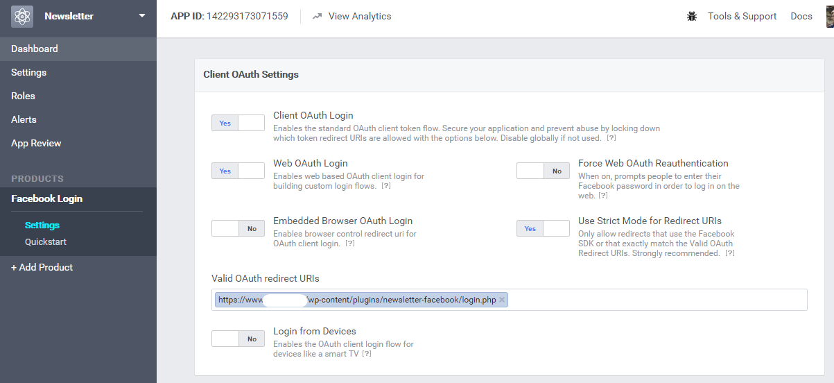 Facebook Extension for Newsletter - The Newsletter Plugin