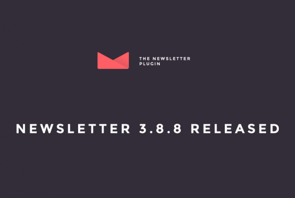 Newsletter 3.8.8 Released