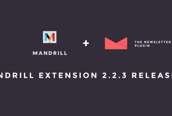 Mandrill Extension 2.2.3 Released